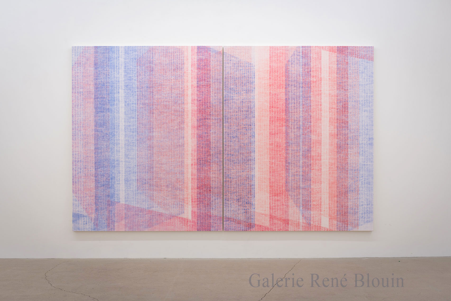Marie-Claire Blais, Être la porte qui s'ouvre 5, 2016, acrylique sur toile, 203 x 330 cm / 80 x 130 pouces. Photo : Marie-Claire Blais