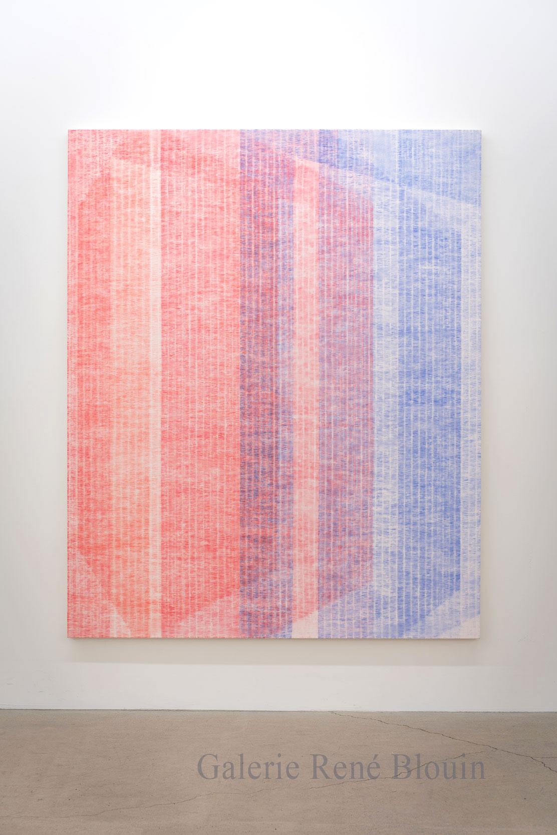 Marie-Claire Blais, Être la porte qui s'ouvre 7, 2016, acrylique sur toile, 203 x 165 cm / 80 x 65 pouces. Photo : Marie-Claire Blais