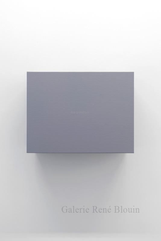 Francine Savard, Brumeux (Éléments 3), 2013, acrylique sur toile marouflée sur structure de contreplaqué, 14,5 x 19 x 1,5 pouces - Galerie René Blouin exposition : 25 mars au 6 mai 2017