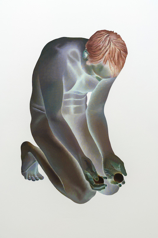 Numa Amun, Extase d'un déni hormonal, 2010, acrylique sur toile, 33 x 19 pouces - Galerie René Blouin exposition : 25 mars au 6 mai 2017