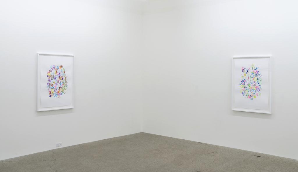 Vue d'installation : Exposition Dessin 3x (Simon Bertrand, Sarah Stevenson, Serge Murphy) 13 mai au 30 juin, 2017, Galerie René Blouin