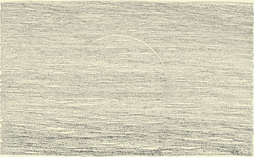 Simon Bertrand, 78 Ophélie, 2016, Crayon à l'encre sur papier, 18 x 30 pouces