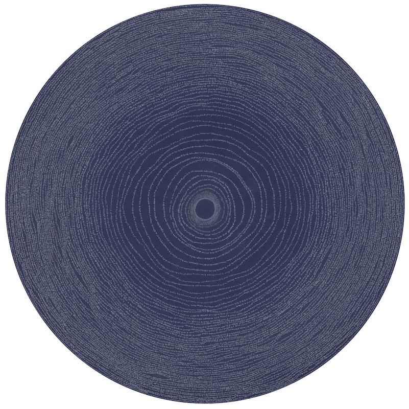 Simon Bertrand, 48 Sans bout du monde, 2016, Crayon gris sur papier, 27 pouces de diamètre