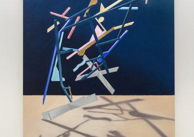 Anthony Burnham, Witness, 2017, Huile sur toile, 210 x 166 cm / 82,5 x 65,5 pouces