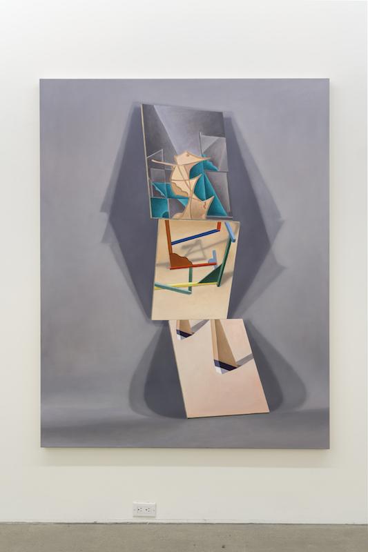 Anthony Burnham, Tangential Painting, 2017, Huile sur toile, 183 x 143 cm / 72 x 56 pouces