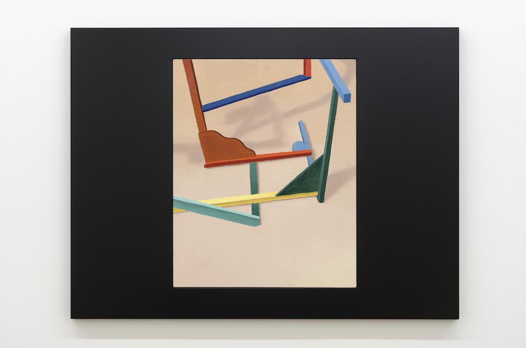 Anthony Burnham, Hovering template , 2017, Huile sur toile de lin et bois, 85 x 65 cm / 33,5 x 25,5 pouces