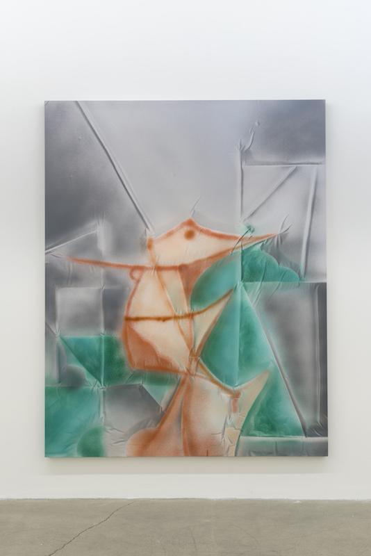 Anthony Burnham, Powderize, 2017, Acrylique sur coton, 210 x 166 cm / 82,5 x 65,5 pouces