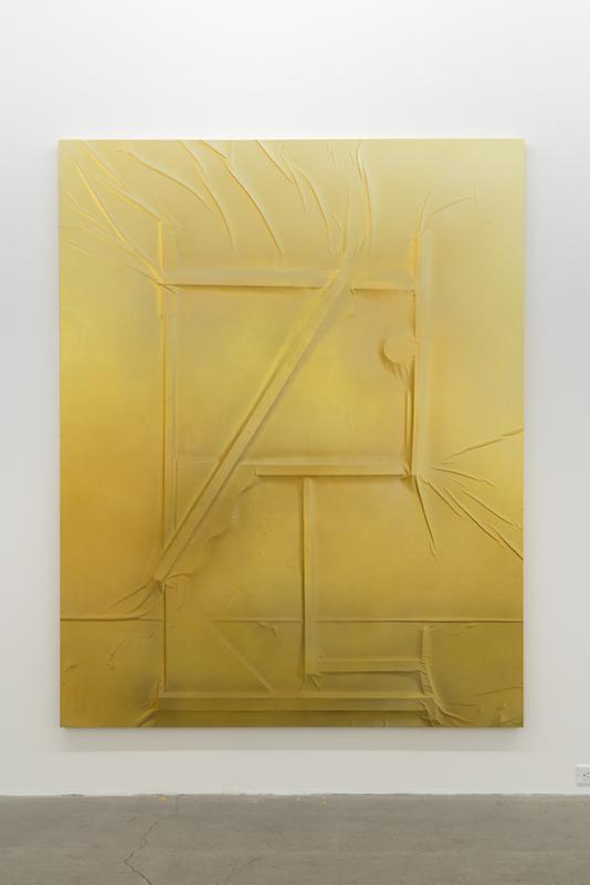 Anthony Burnham, Side show screaming, 2016, Acrylique  sur toile, 210 x 166 cm / 82,5 x 65,5 pouces