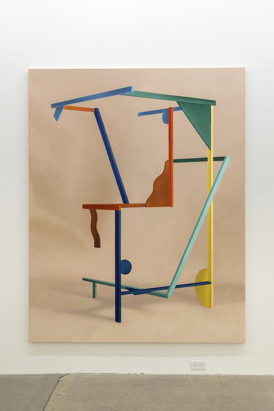 Anthony Burnham, Display, 2017, Huile sur toile, 210 x 166 cm / 82,5 x 65,5 pouces