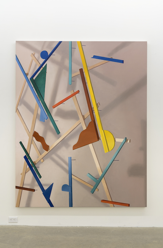 Anthony Burnham, Made-up, 2017, Huile sur toile, 210 x 166 cm / 82,5 x 65,5 pouces
