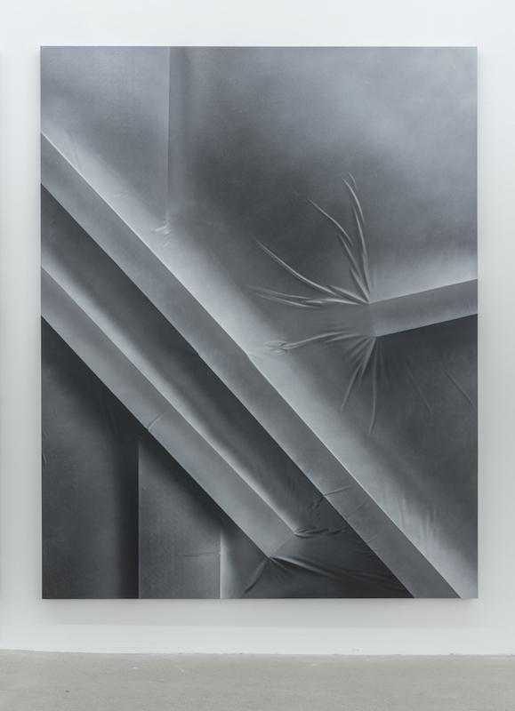 Anthony Burnham, Position 038, Close up center left, 2015 acrylique sur toile, 210 x 166 cm / 82.6 x 65.3 pouces Vue de l'exposition (2015) Photo: Richard-Max Tremblay
