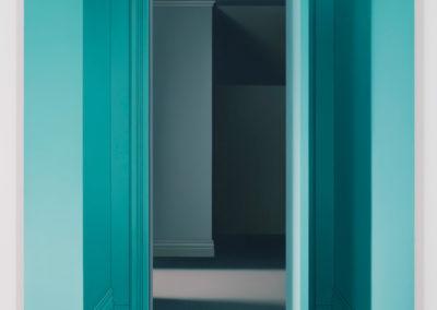 Intérieur (Larouche), 2017, huile sur toile de lin,72 x 48 pouces