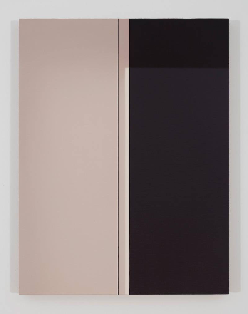 Black door, 2017, huile sur toile de lin, 33 x 25 pouces
