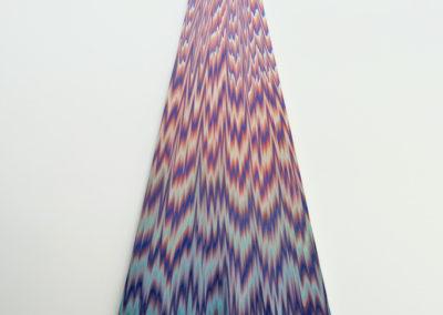 Karine Fréchette, Extraction scintillante 4, 2017, Acrylique sur toile et contre-plaqué, environ 183 x 91,5 cm /  environ 72  x 36 pouces