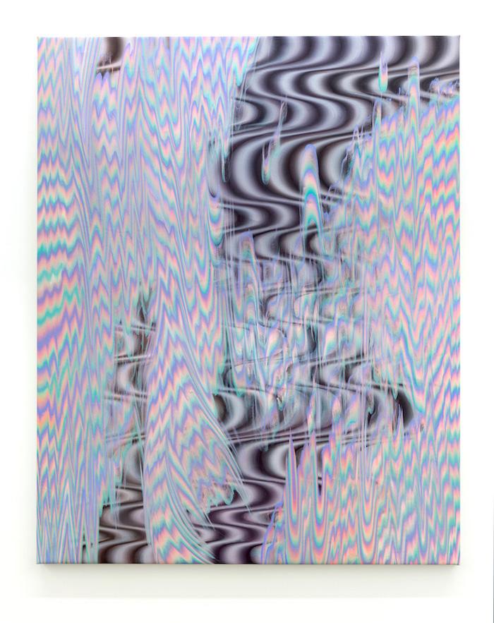 Karine Fréchette, Cascade 8, 2017, Acrylique sur toile, 152,5 x 122 cm / 60 x 48 pouces
