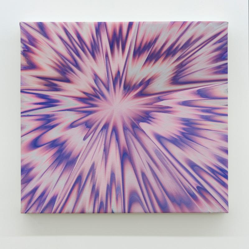 Karine Fréchette, Plongée 5, 2017, Acrylique sur toile, 61 x 66 cm / 24 x 26 pouces