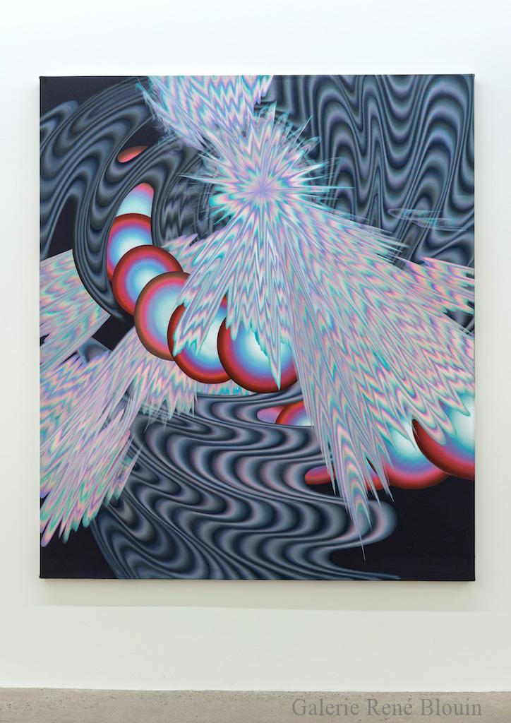 Karine, Fréchette, Petite Spirale, 2017, Acrylique sur toile, 183 x 157,5 cm / 72 x 62 pouces