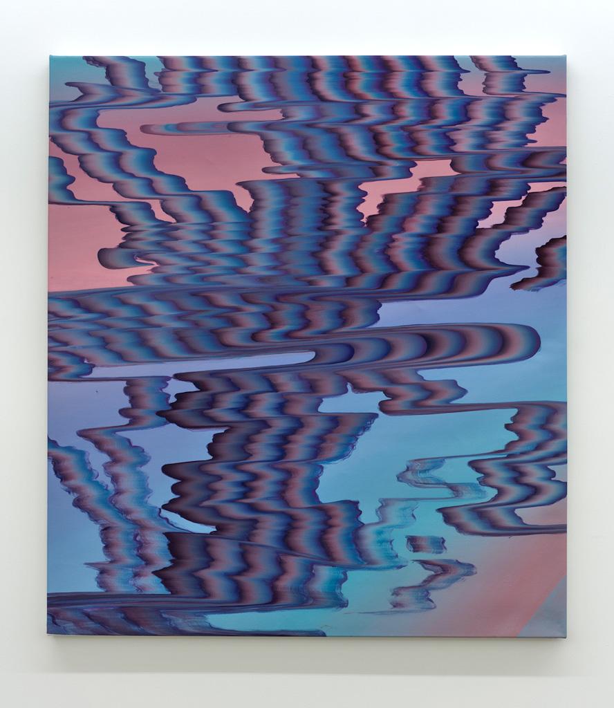 Karine Fréchette, Cascade 7, 2017, Acrylique sur toile, 142 x 127 cm / 56 x 50 pouces
