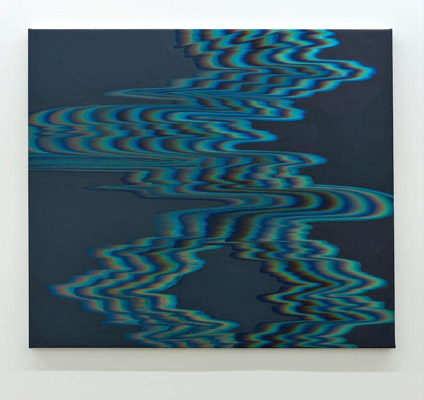 Karine Fréchette, Cascade 5, 2016, Acrylique sur toile, 122 x 137 cm / 48 x 54 pouces