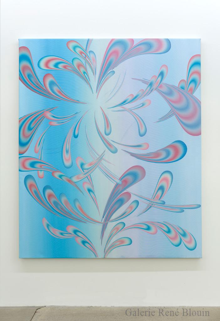 Karine Fréchette, Petite Spirale 2 (vestiges), 2017, Acrylique sur toile, 183 x 152,5 cm / 72 x 60 pouces