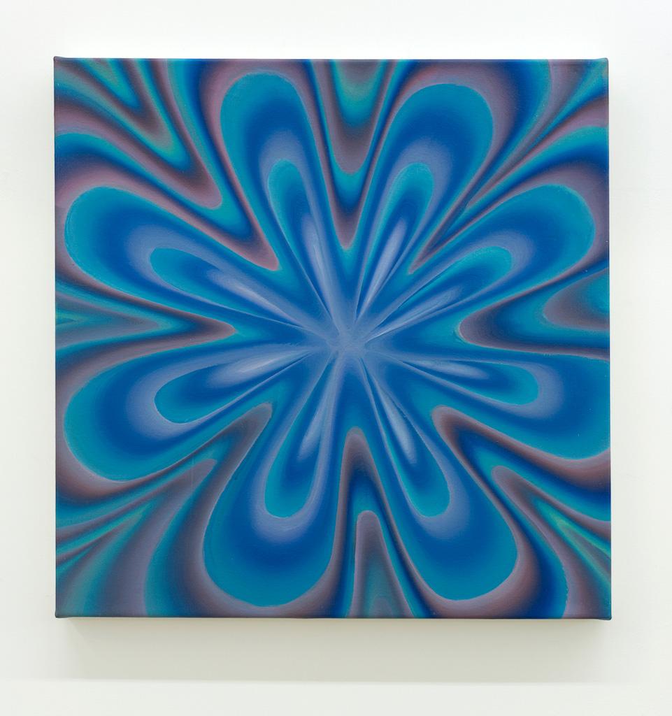 Karine Fréchette, Plongée 4, 2017, Acrylique sur toile, 61 x 61 cm / 24 x 24 pouces