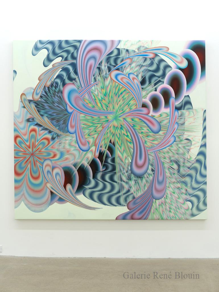 Karine Fréchette, Grande Spirale 2, 2017, Acrylique sur toile, 183 x 198 cm / 72 x 78 pouces