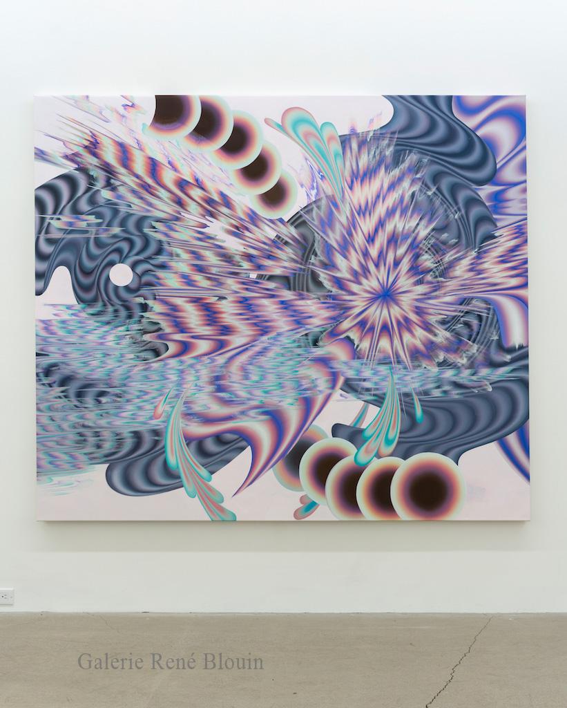 Karine Fréchette, Grande Spirale, 2017, Acrylique sur toile, 183 x 213 cm / 72 x 84 pouces