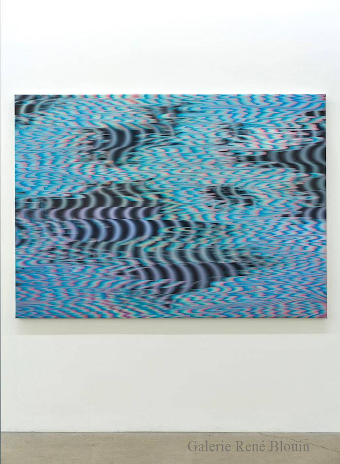 Karine Fréchette, Cascade 9, 2017, Acrylique sur toile, 129,5 x 183 cm / 51 x 72 pouces