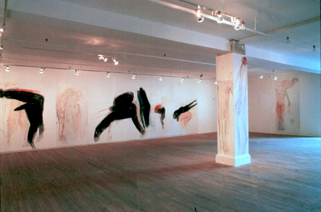 Betty Goodwin, vue d' installation, Galerie René Blouin, 1986