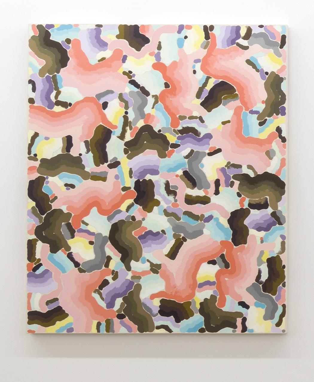 François Lacasse, Compilation VIII, 2010, huile sur toile, 139,7 x 111,8 cm / 55 x 44 pouces