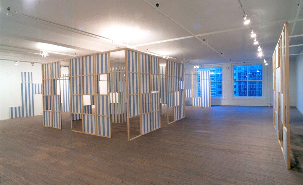Daniel Buren, Cabanne, 1987, Galerie Rene Blouin