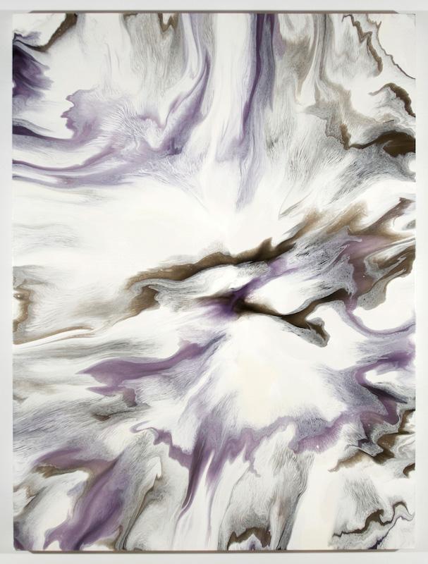 Fracturation II, 2016, Encre et acrylique sur toile, 162,6 x 121,9 cm / 64 x 48 pouces