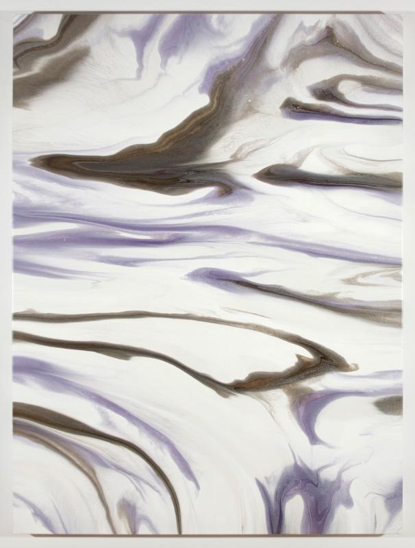 Fracturation III, 2016, Encre et acrylique sur toile, 162,6 x 121,9 cm / 64 x 48 pouces