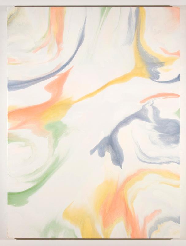 Fractionnement III, 2017, Encre et acrylique sur toile, 162,6 x 121,9 cm / 64 x 48 pouces