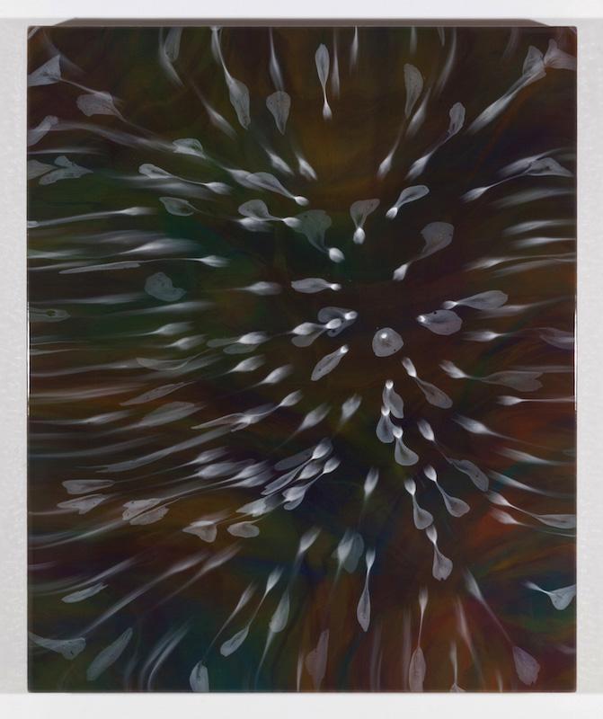 Secrets floraux I, 2017, Encre et acrylique sur toile, 91,4 x 76,2 cm /36 x 30 pouces