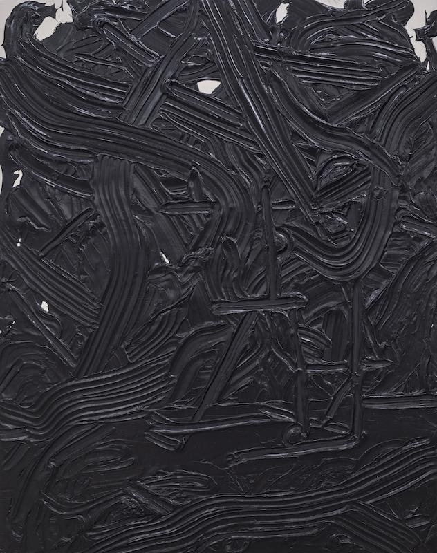 Anthony Burnham, Direct gesture, 2014, Acrylique sur toile de coton, 210 x 166 cm / 82.6 x 65.3 pouces