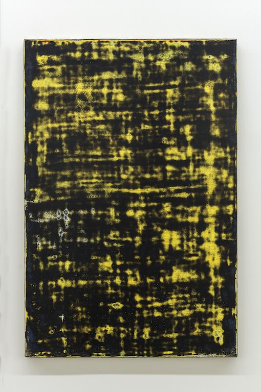 Nicolas Lachance, Sans titre, 2017, Laque acrylique sur toile de jute, 91,5 x 61 cm / 36 x 24 pouces