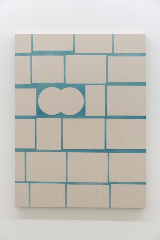 Daniel Langevin, Cirrus, 2018, Acrylique sur coton, 122 x 91 cm / 48 x 36 pouces