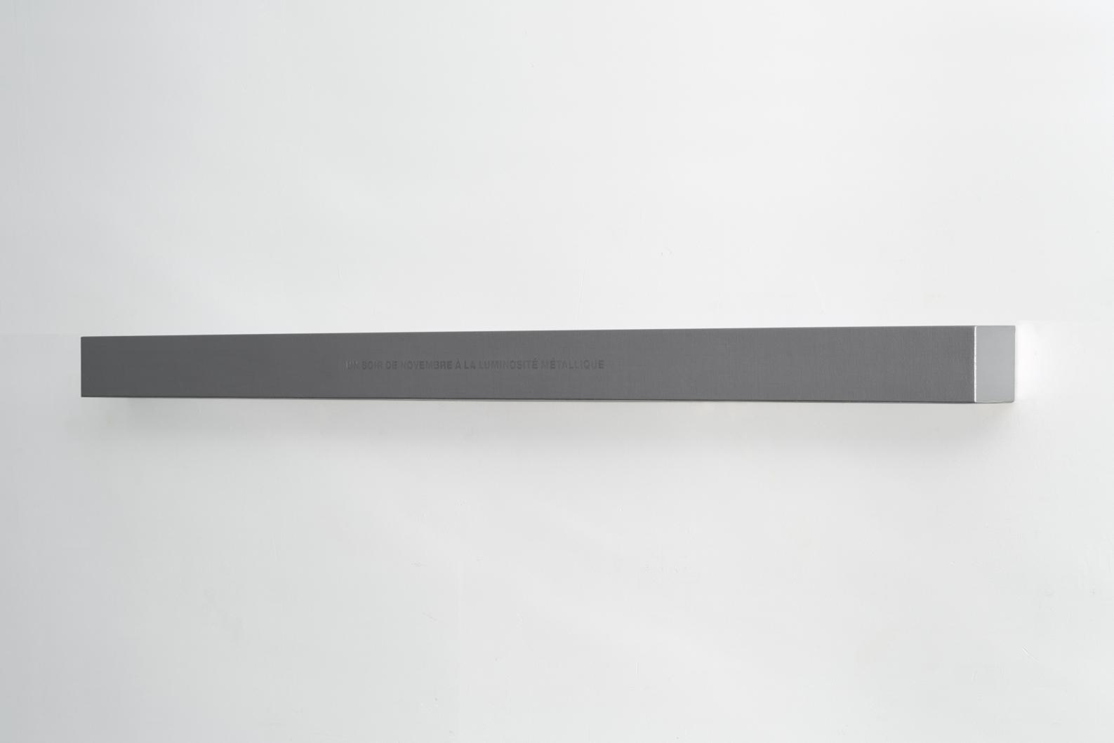Francine Savard, Lumière d'un soir, 2018, Médiums mixtes sur toile marouflée sur caisson de bois, 10,16 × 177,8 × 10,16 cm / 4 x 70 x 4 pouces