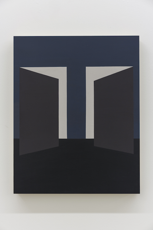 Serena Beaulieu, Untitled (Asymmetry II), 2018, Acrylique sur bois, 51 x 40,5 cm / 20 x 16 pouces