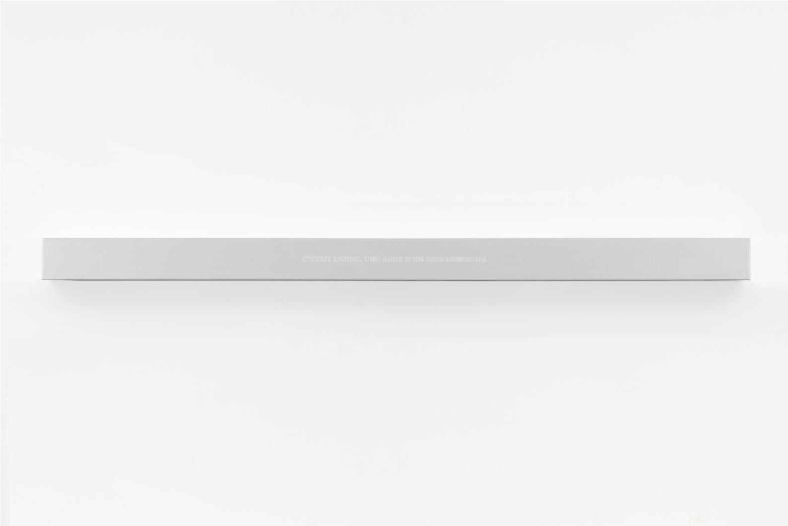 Francine Savard, Lumière de l'aube, 2018, Médiums mixtes sur toile marouflée sur caisson de bois, 10,16 × 177,8 × 10,16 cm / 4 x 70 x 4 pouces
