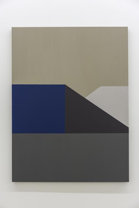 Serena Beaulieu, Base, 2018, Acrylique et huile sur bois, 122 x 91,5 cm / 48 x 36 pouces