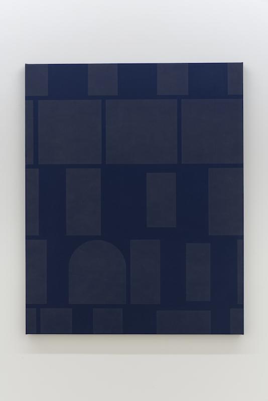 Daniel Langevin, Doory, 2018, Acrylique sur coton, 152 x 122 cm / 60 x 48 pouces