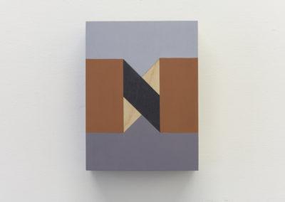 Serena Beaulieu, Untitled (N), 2018, Acrylique sur bois, 20 x 15 cm / 8 x 6 pouces