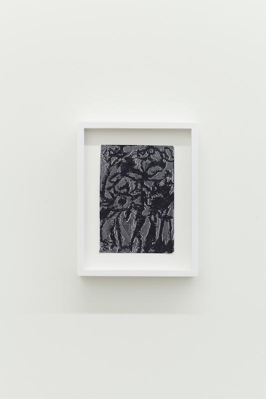 Jérôme Nadeau, Lilies (Seeking Soothe), 2018, Crayon à l'huile sur photocopie. 15,24 x 10,16 cm / 6 x 4 pouces.