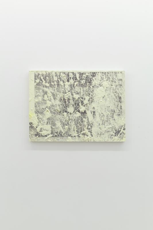 Nicolas Lachance, Les nominés, 2018, ciment de gypse, bois et encre, moulage et sérigraphie, 56 x 81 cm / 22 x 31,8 pouces.