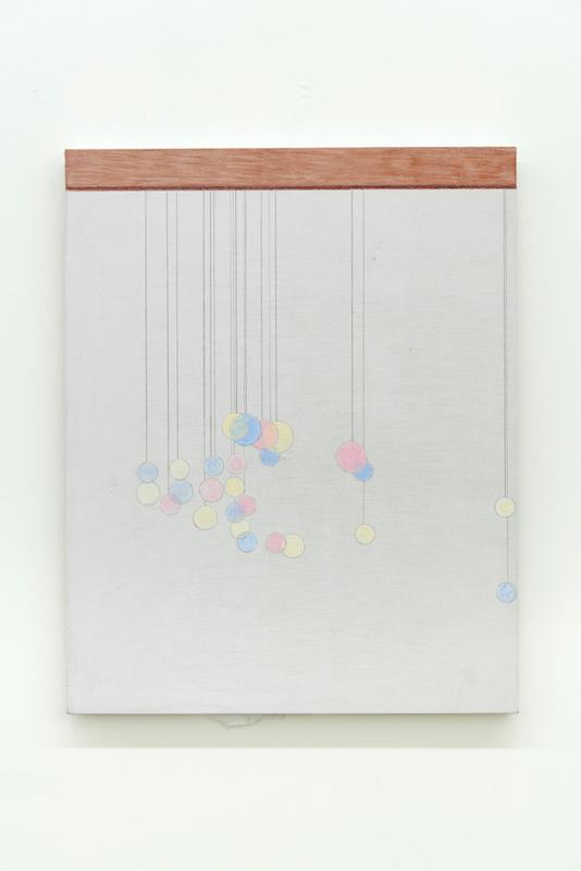 Marlon Kroll, The Invitation, 2018, Crayon de couleur sur drap monté sur panneau, 53,3 x 40,6 cm / 21 x 16 pouces