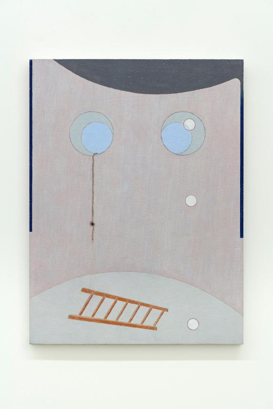 Marlon Kroll, Tower Trifle, 2018, Crayon de couleur sur drap monté sur panneau, 53,3 x 40,6 cm / 21 x 16 pouces
