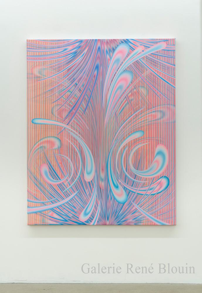 Karine Fréchette, Croissance III, 2018, Acrylique sur toile, 152,4 x 121,9 cm / 60 x 48 pouces