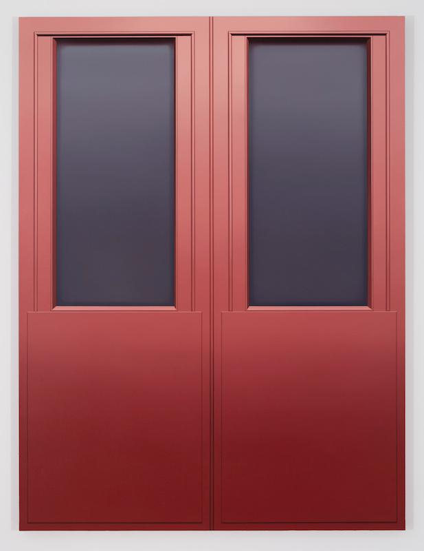 Pierre Dorion, Soon IV (Portes), 2017, Huile sur toile de lin, 182,8 x 137,1 cm / 72 x 54 pouces